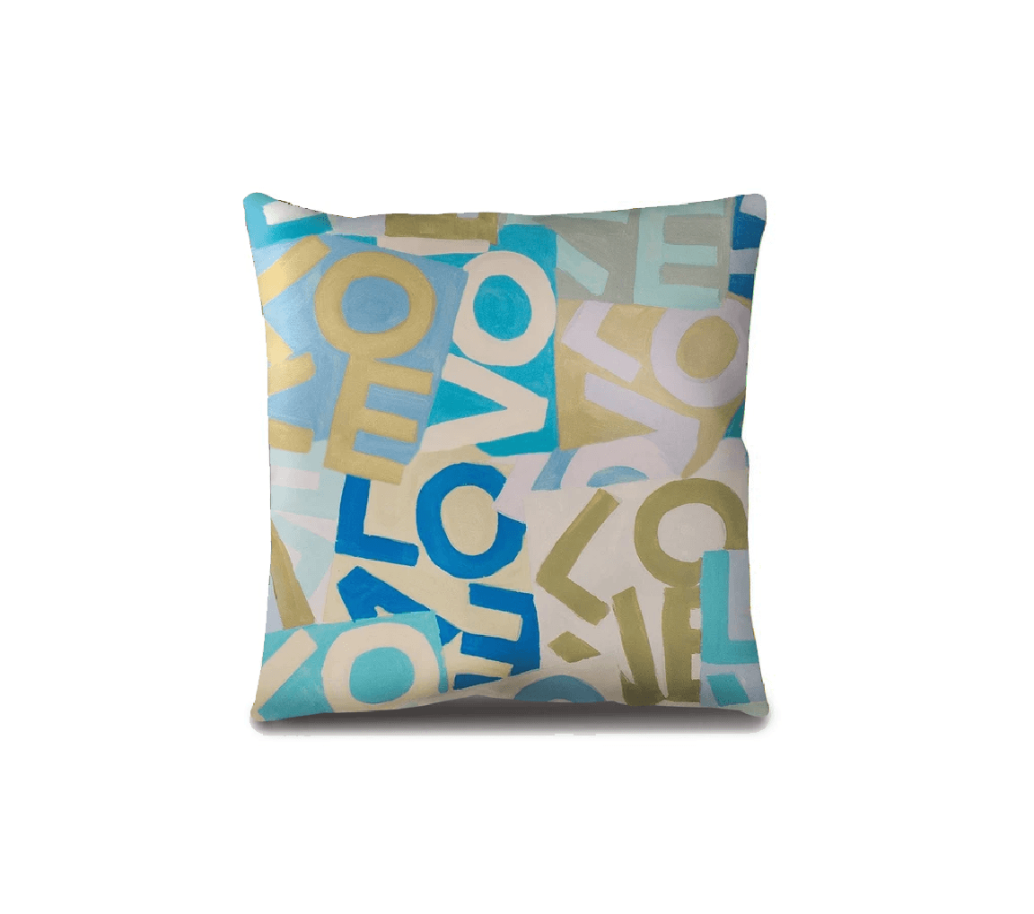 Layers of Love - Blues - Throw Pillow Shop All MWW