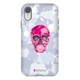 LeighDeux Phone Cases- Skull Camo Nero/Pink Phone Case LeighDeux, LLC iPhone XR Premium Glossy Tough Case