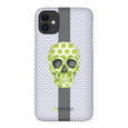 LeighDeux Phone Cases - Skull Luna Stripe Lime/Lavender Phone Case LeighDeux, LLC Premium Glossy Snap Case iPhone 11