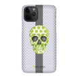 LeighDeux Phone Cases - Skull Luna Stripe Lime/Lavender Phone Case LeighDeux, LLC Premium Glossy Snap Case iPhone 11 Pro