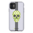 LeighDeux Phone Cases - Skull Luna Stripe Lime/Lavender Phone Case LeighDeux, LLC Premium Glossy Tough Case iPhone 11