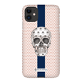 LeighDeux Phone Cases - Skull Luna Stripe Millennial/Nero Phone Case LeighDeux, LLC Premium Glossy Snap Case iPhone 11
