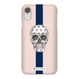LeighDeux Phone Cases - Skull Luna Stripe Millennial/Nero Phone Case LeighDeux, LLC Premium Glossy Snap Case iPhone XR