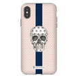 LeighDeux Phone Cases - Skull Luna Stripe Millennial/Nero Phone Case LeighDeux, LLC Premium Glossy Tough Case iPhone XS Max