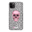 LeighDeux Phone Cases- Skull Tanzania Nero/Hot Pink Phone Case LeighDeux, LLC iPhone 11 Pro Max Premium Glossy Snap Case