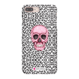 LeighDeux Phone Cases- Skull Tanzania Nero/Hot Pink Phone Case LeighDeux, LLC iPhone 8 Plus Premium Glossy Snap Case