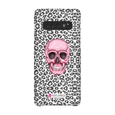 LeighDeux Phone Cases- Skull Tanzania Nero/Hot Pink Phone Case LeighDeux, LLC Samsung Galaxy S10 Premium Glossy Snap Case