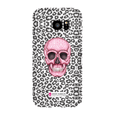 LeighDeux Phone Cases- Skull Tanzania Nero/Hot Pink Phone Case LeighDeux, LLC Samsung Galaxy S7 Edge Premium Glossy Snap Case