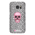 LeighDeux Phone Cases- Skull Tanzania Nero/Hot Pink Phone Case LeighDeux, LLC Samsung Galaxy S7 Premium Glossy Snap Case