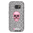 LeighDeux Phone Cases- Skull Tanzania Nero/Hot Pink Phone Case LeighDeux, LLC Samsung Galaxy S7 Premium Glossy Tough Case