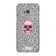 LeighDeux Phone Cases- Skull Tanzania Nero/Hot Pink Phone Case LeighDeux, LLC Samsung Galaxy S8 Premium Glossy Snap Case