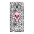 LeighDeux Phone Cases- Skull Tanzania Nero/Hot Pink Phone Case LeighDeux, LLC Samsung Galaxy S8 Premium Glossy Tough Case
