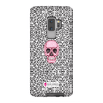 LeighDeux Phone Cases- Skull Tanzania Nero/Hot Pink Phone Case LeighDeux, LLC Samsung Galaxy S9 Plus Premium Glossy Tough Case