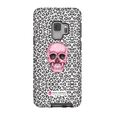 LeighDeux Phone Cases- Skull Tanzania Nero/Hot Pink Phone Case LeighDeux, LLC Samsung Galaxy S9 Premium Glossy Tough Case