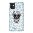 LeighDeux Phone Cases- Skull Tanzania Nero/Peacock Phone Case LeighDeux, LLC iPhone 11 Premium Glossy Snap Case