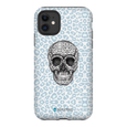 LeighDeux Phone Cases- Skull Tanzania Nero/Peacock Phone Case LeighDeux, LLC iPhone 11 Premium Glossy Tough Case