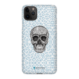 LeighDeux Phone Cases- Skull Tanzania Nero/Peacock Phone Case LeighDeux, LLC iPhone 11 Pro Max Premium Glossy Snap Case