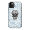 LeighDeux Phone Cases- Skull Tanzania Nero/Peacock Phone Case LeighDeux, LLC iPhone 11 Pro Max Premium Glossy Tough Case
