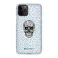 LeighDeux Phone Cases- Skull Tanzania Nero/Peacock Phone Case LeighDeux, LLC iPhone 11 Pro Premium Glossy Snap Case