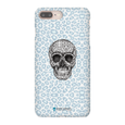 LeighDeux Phone Cases- Skull Tanzania Nero/Peacock Phone Case LeighDeux, LLC iPhone 8 Plus Premium Glossy Snap Case