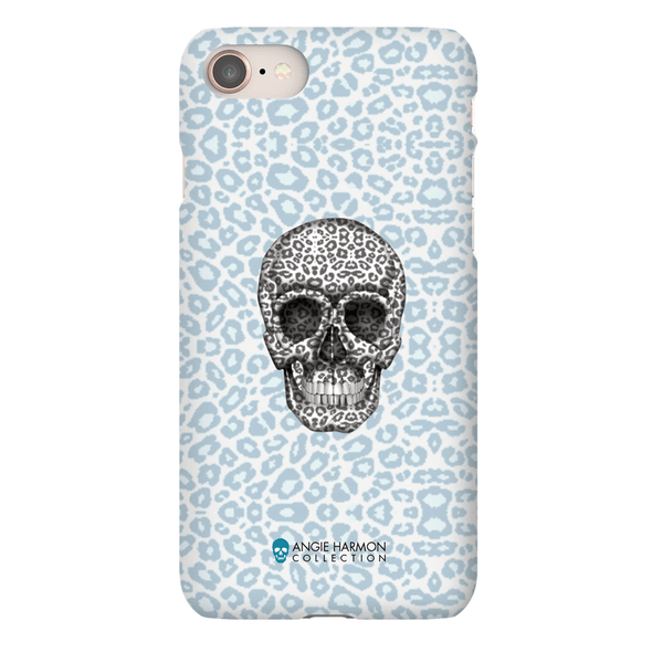 LeighDeux Phone Cases- Skull Tanzania Nero/Peacock Phone Case LeighDeux, LLC iPhone 8 Premium Glossy Snap Case