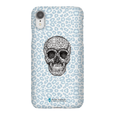 LeighDeux Phone Cases- Skull Tanzania Nero/Peacock Phone Case LeighDeux, LLC iPhone XR Premium Glossy Snap Case