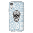 LeighDeux Phone Cases- Skull Tanzania Nero/Peacock Phone Case LeighDeux, LLC iPhone XR Premium Glossy Tough Case
