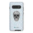LeighDeux Phone Cases- Skull Tanzania Nero/Peacock Phone Case LeighDeux, LLC Samsung Galaxy S10 Plus Premium Glossy Tough Case