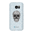 LeighDeux Phone Cases- Skull Tanzania Nero/Peacock Phone Case LeighDeux, LLC Samsung Galaxy S7 Edge Premium Glossy Snap Case
