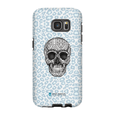 LeighDeux Phone Cases- Skull Tanzania Nero/Peacock Phone Case LeighDeux, LLC Samsung Galaxy S7 Edge Premium Glossy Tough Case