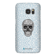 LeighDeux Phone Cases- Skull Tanzania Nero/Peacock Phone Case LeighDeux, LLC Samsung Galaxy S7 Premium Glossy Snap Case
