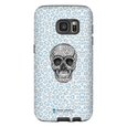 LeighDeux Phone Cases- Skull Tanzania Nero/Peacock Phone Case LeighDeux, LLC Samsung Galaxy S7 Premium Glossy Tough Case