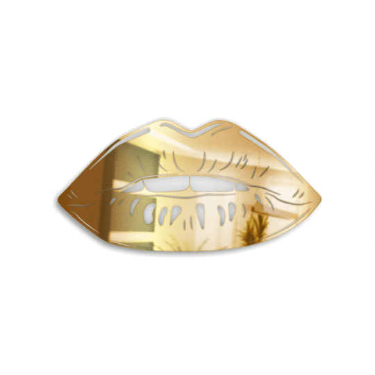 Lips Mirror LeighDeux, LLC Gold