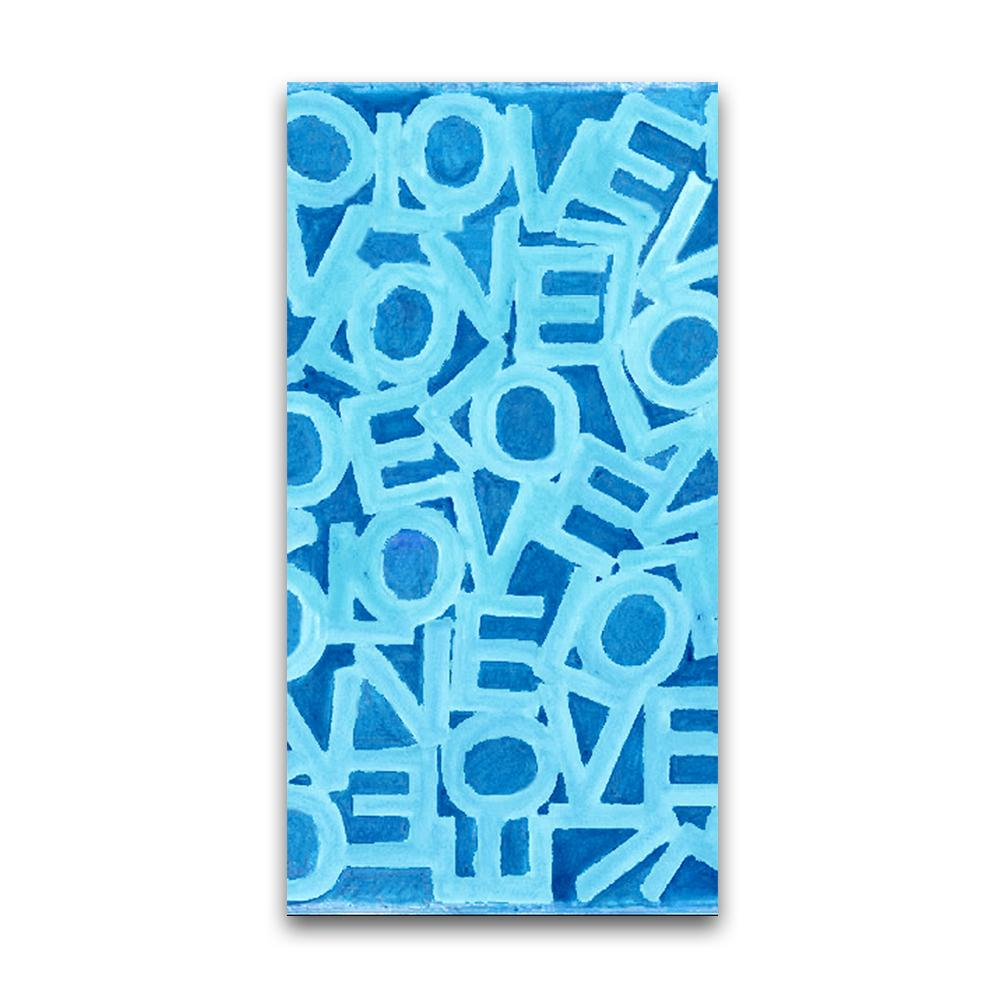 Love Link - Aqua/Navy - Resort Towel MWW