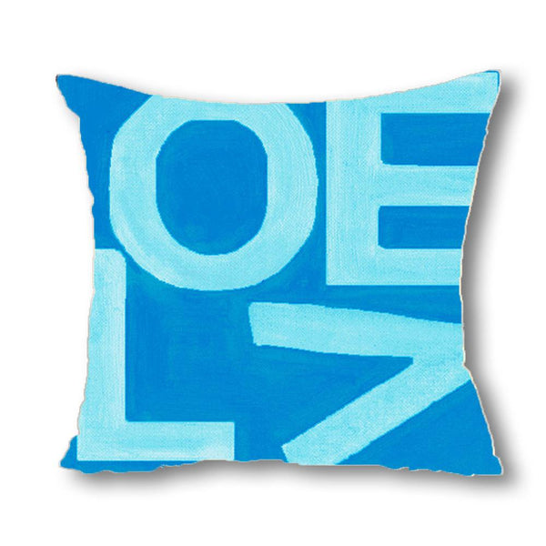 Love Stack - Aqua/Navy - Euro/Floor Pillow Shop All MWW