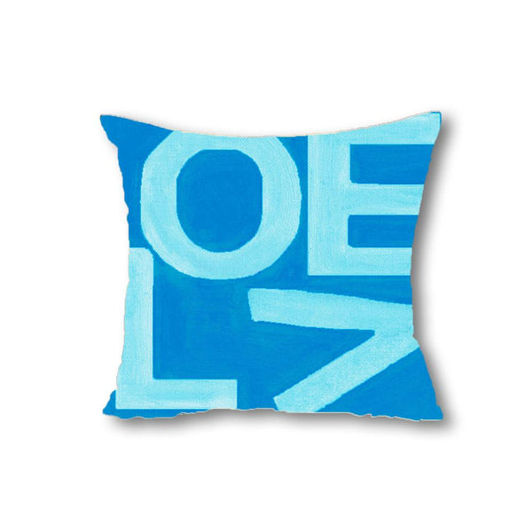 Love Stack - Aqua/Navy - Throw Pillow Shop All MWW