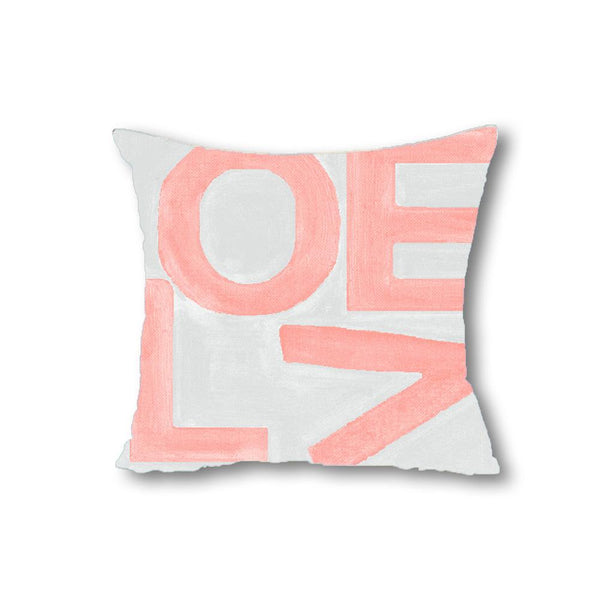 Love Stack - Blush/Gray - Throw Pillow Shop All MWW