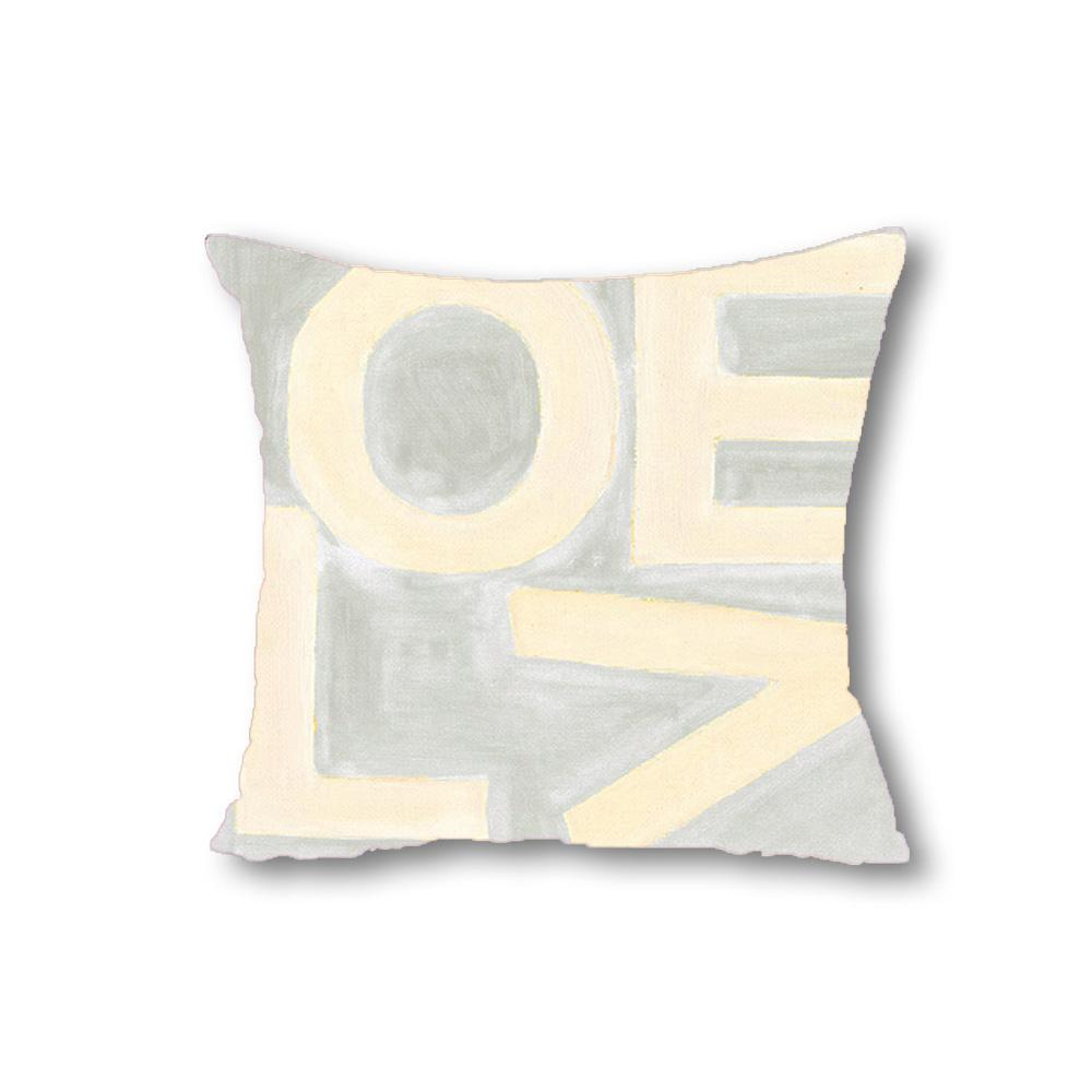 Love Stack - Gray/Cream - Throw Pillow Shop All MWW