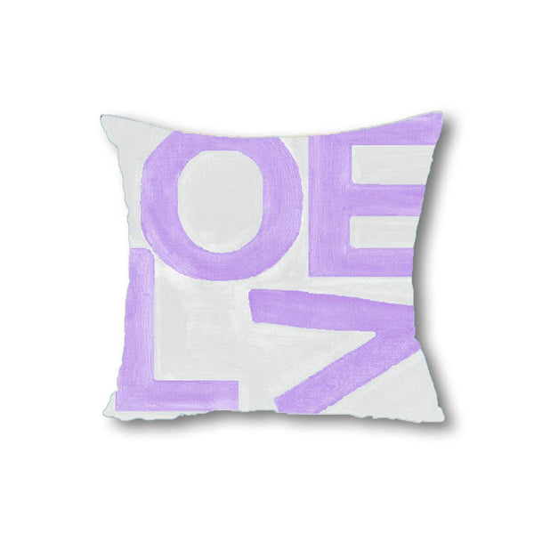 Love Stack - Lavender/Gray - Throw Pillow Shop All MWW