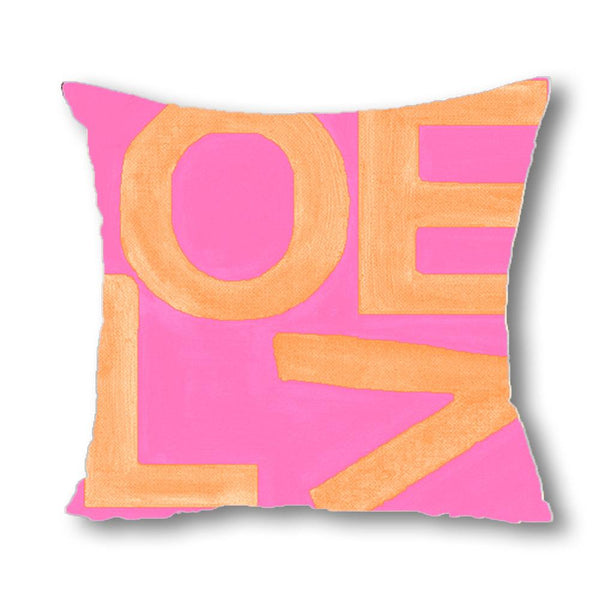 Love Stack - Pink/Orange - Euro/Floor Pillow Shop All MWW