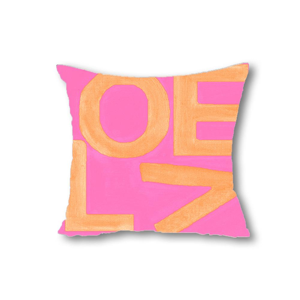 Love Stack - Pink/Orange - Throw Pillow Shop All MWW