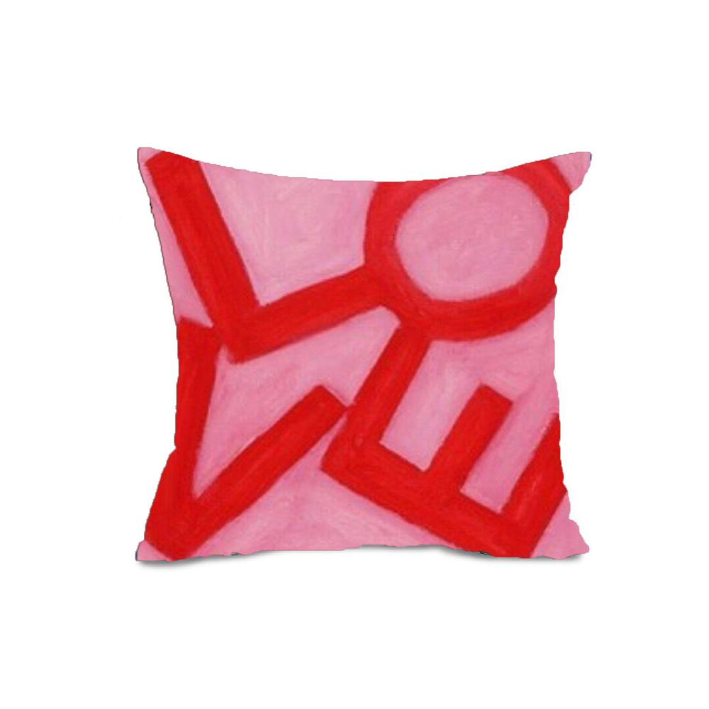 Love Stack - Pink/Red - Throw Pillow Shop All MWW