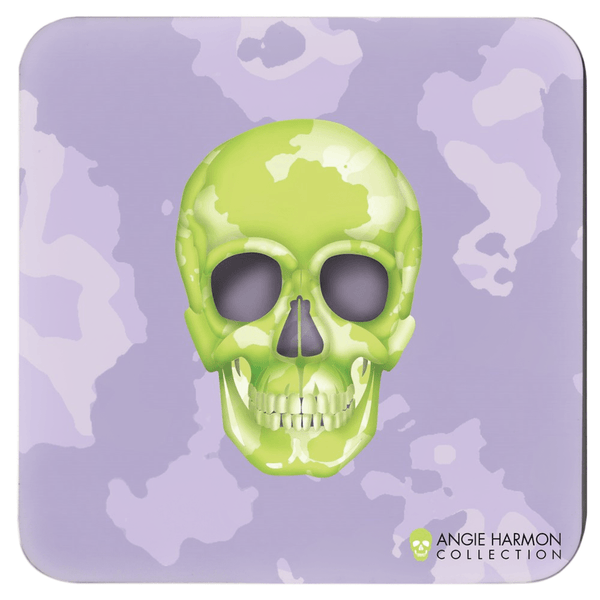 Skull Coasters by Angie Harmon - Camo LeighDeux, LLC Set of 4 3.75x3.75 inch
