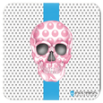 Skull Coasters by Angie Harmon - Luna Stripe LeighDeux, LLC Set of 4 3.75x3.75 inch