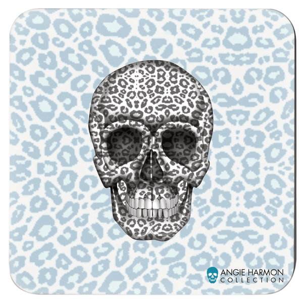 Skull Coasters by Angie Harmon - Tanzania LeighDeux, LLC Set of 4 3.75x3.75 inch