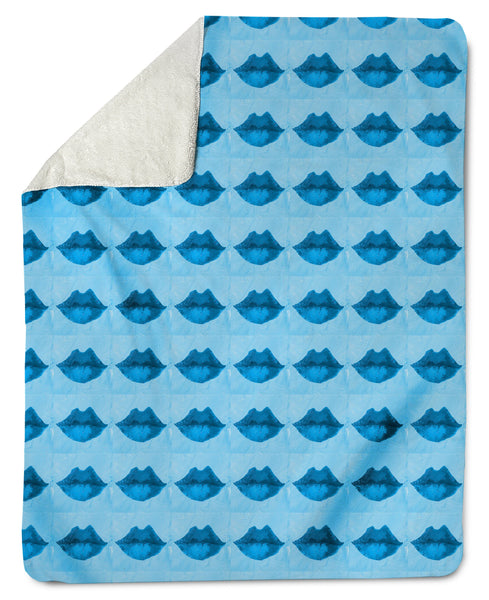The Lovleigh Blanket - Pucker Lips Aqua Shop All,Bedding Collections MWW