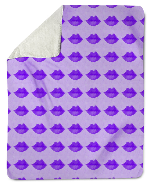 The Lovleigh Blanket - Pucker Lips Lavender Shop All,Bedding Collections MWW