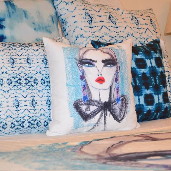 Throw Pillow- Fashionista Teal Shop All,Bedding Collections MWW