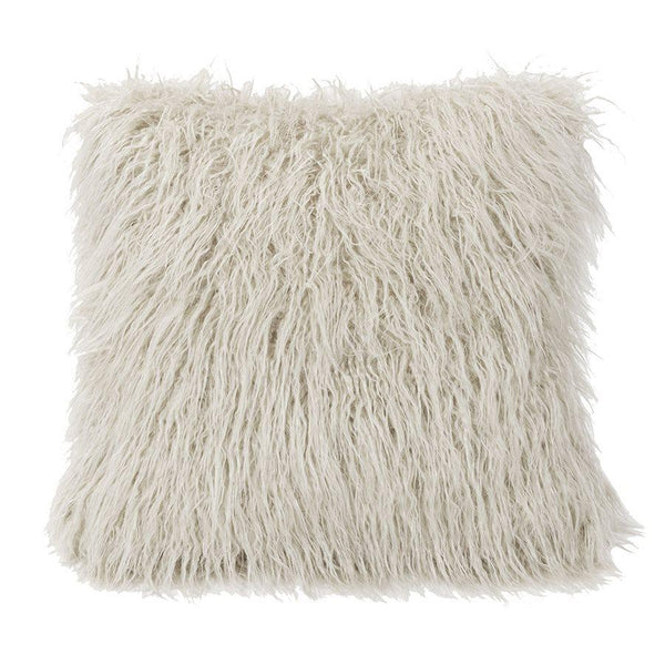 Throw Pillow - Mongolian Faux Fur White Shop All,Last Call SALE,Bedding Collections Springs