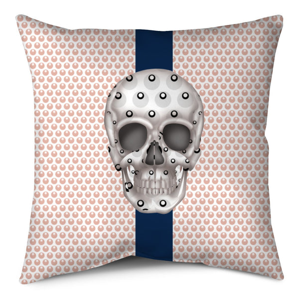 Throw Pillow - Skull Luna Stripe Millennial/Nero throw LeighDeux, LLC